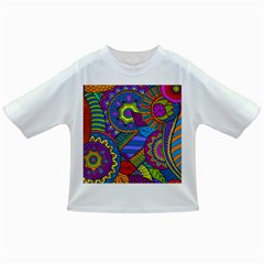 Pop Art Paisley Flowers Ornaments Multicolored Infant/toddler T Shirts by EDDArt