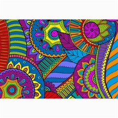 Pop Art Paisley Flowers Ornaments Multicolored Collage Prints by EDDArt