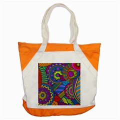 Pop Art Paisley Flowers Ornaments Multicolored Accent Tote Bag by EDDArt