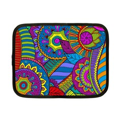 Pop Art Paisley Flowers Ornaments Multicolored Netbook Case (small)  by EDDArt