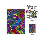Pop Art Paisley Flowers Ornaments Multicolored Playing Cards 54 (Mini)