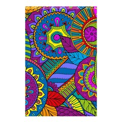 Pop Art Paisley Flowers Ornaments Multicolored Shower Curtain 48  X 72  (small)  by EDDArt