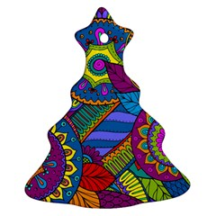 Pop Art Paisley Flowers Ornaments Multicolored Christmas Tree Ornament (2 Sides) by EDDArt