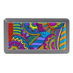 Pop Art Paisley Flowers Ornaments Multicolored Memory Card Reader (mini) by EDDArt
