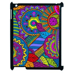 Pop Art Paisley Flowers Ornaments Multicolored Apple Ipad 2 Case (black) by EDDArt