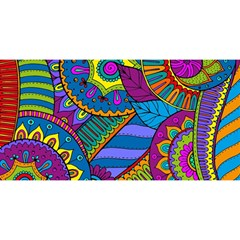 Pop Art Paisley Flowers Ornaments Multicolored You Are Invited 3d Greeting Card (8x4) by EDDArt