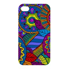 Pop Art Paisley Flowers Ornaments Multicolored Apple Iphone 4/4s Hardshell Case by EDDArt