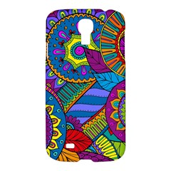 Pop Art Paisley Flowers Ornaments Multicolored Samsung Galaxy S4 I9500/i9505 Hardshell Case by EDDArt
