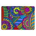 Pop Art Paisley Flowers Ornaments Multicolored Samsung Galaxy Tab 10.1  P7500 Flip Case