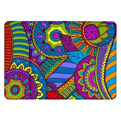 Pop Art Paisley Flowers Ornaments Multicolored Samsung Galaxy Tab 8 9  P7300 Flip Case by EDDArt