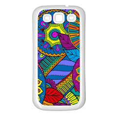 Pop Art Paisley Flowers Ornaments Multicolored Samsung Galaxy S3 Back Case (white) by EDDArt
