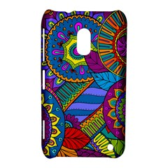 Pop Art Paisley Flowers Ornaments Multicolored Nokia Lumia 620 by EDDArt