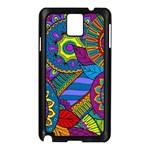 Pop Art Paisley Flowers Ornaments Multicolored Samsung Galaxy Note 3 N9005 Case (Black)