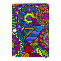 Pop Art Paisley Flowers Ornaments Multicolored Samsung Galaxy Tab Pro 12 2 Hardshell Case by EDDArt