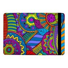 Pop Art Paisley Flowers Ornaments Multicolored Samsung Galaxy Tab Pro 10 1  Flip Case by EDDArt