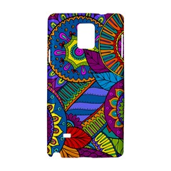 Pop Art Paisley Flowers Ornaments Multicolored Samsung Galaxy Note 4 Hardshell Case by EDDArt