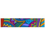 Pop Art Paisley Flowers Ornaments Multicolored Flano Scarf (Small)