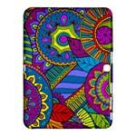 Pop Art Paisley Flowers Ornaments Multicolored Samsung Galaxy Tab 4 (10.1 ) Hardshell Case