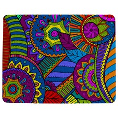 Pop Art Paisley Flowers Ornaments Multicolored Jigsaw Puzzle Photo Stand (Rectangular) by EDDArt