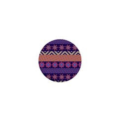 Colorful Winter Pattern 1  Mini Buttons by DanaeStudio