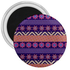 Colorful Winter Pattern 3  Magnets by DanaeStudio