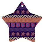 Colorful Winter Pattern Ornament (Star)