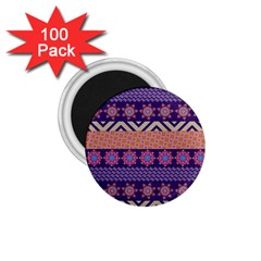Colorful Winter Pattern 1 75  Magnets (100 Pack)  by DanaeStudio