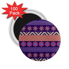 Colorful Winter Pattern 2 25  Magnets (100 Pack)  by DanaeStudio