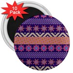 Colorful Winter Pattern 3  Magnets (10 pack)