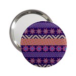 Colorful Winter Pattern 2.25  Handbag Mirrors