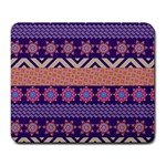 Colorful Winter Pattern Large Mousepads