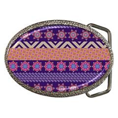 Colorful Winter Pattern Belt Buckles by DanaeStudio
