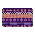 Colorful Winter Pattern Magnet (Rectangular)