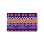 Colorful Winter Pattern Magnet (Name Card)