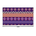 Colorful Winter Pattern Business Card Holders