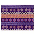 Colorful Winter Pattern Rectangular Jigsaw Puzzl