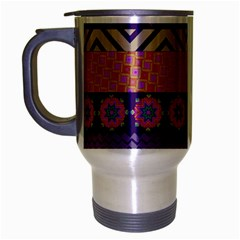 Colorful Winter Pattern Travel Mug (silver Gray) by DanaeStudio