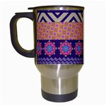 Colorful Winter Pattern Travel Mugs (White)