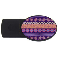 Colorful Winter Pattern Usb Flash Drive Oval (4 Gb)  by DanaeStudio