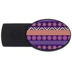 Colorful Winter Pattern USB Flash Drive Oval (4 GB)