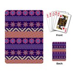 Colorful Winter Pattern Playing Card