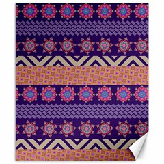 Colorful Winter Pattern Canvas 8  X 10  by DanaeStudio