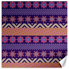 Colorful Winter Pattern Canvas 12  X 12   by DanaeStudio