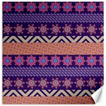 Colorful Winter Pattern Canvas 12  x 12