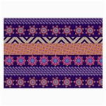 Colorful Winter Pattern Large Glasses Cloth (2-Side)