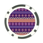 Colorful Winter Pattern Poker Chip Card Guards