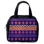 Colorful Winter Pattern Classic Handbags (One Side)