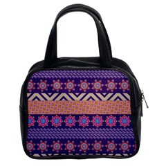 Colorful Winter Pattern Classic Handbags (2 Sides) by DanaeStudio