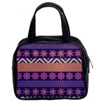 Colorful Winter Pattern Classic Handbags (2 Sides)