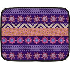 Colorful Winter Pattern Fleece Blanket (mini) by DanaeStudio